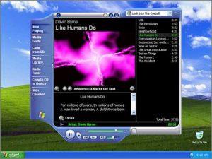 Trình phát nhạc huyền thoại Windows XP