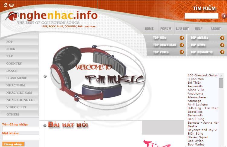 website Nghenhac.info