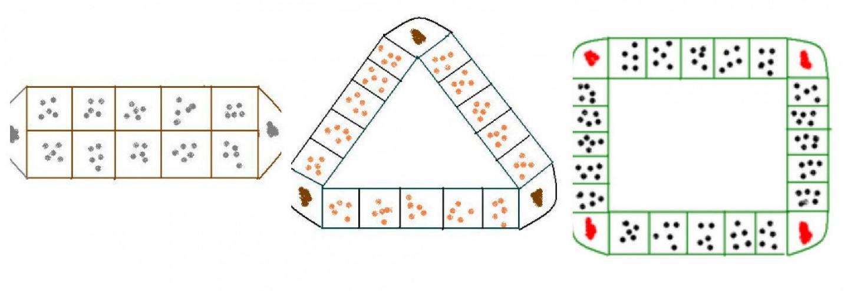 Mô hình chơi ô ăn quan