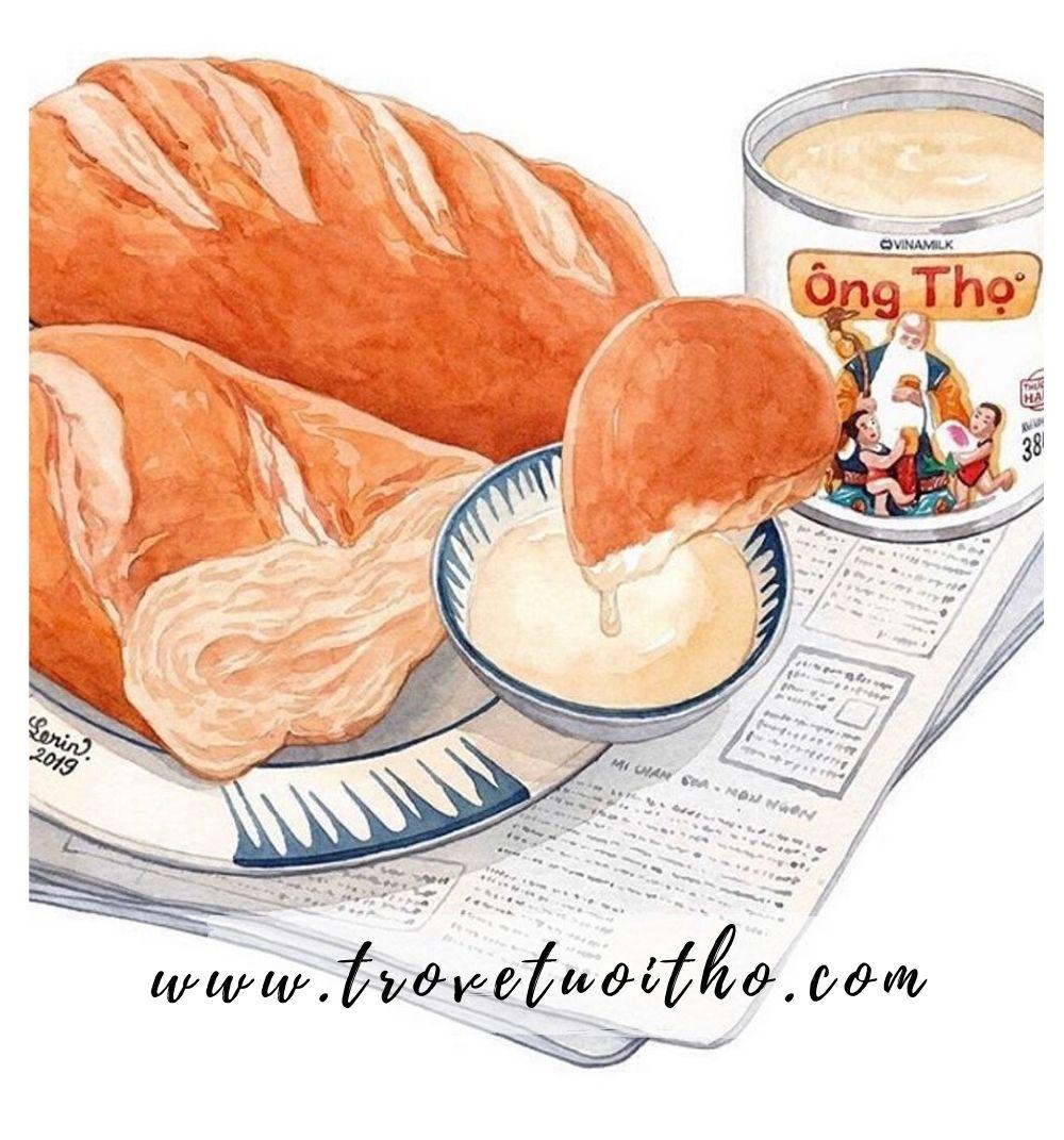 Bánh mỳ chấm sữa đặc