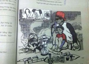 Vẽ bậy sách giáo khoa