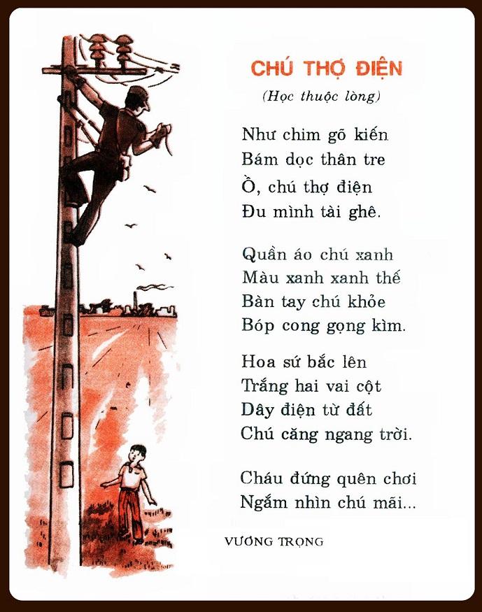 Bài thơ Chú thợ điện